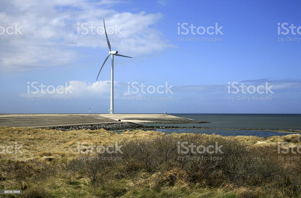 Modern windmill in Netherlands royalty-free stock photo