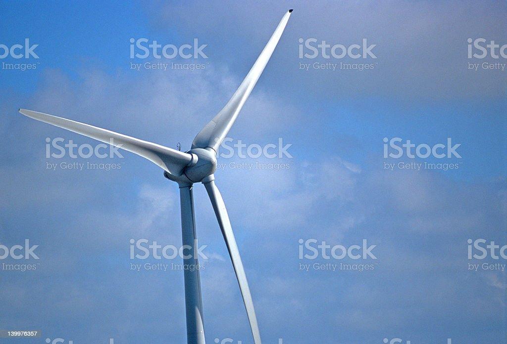 Modern windmill royalty-free stock photo