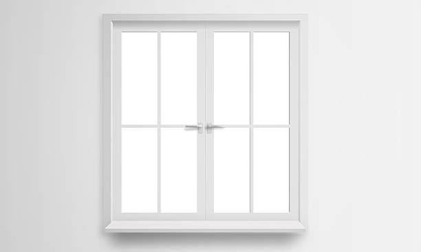 Modern window isolated - foto stock