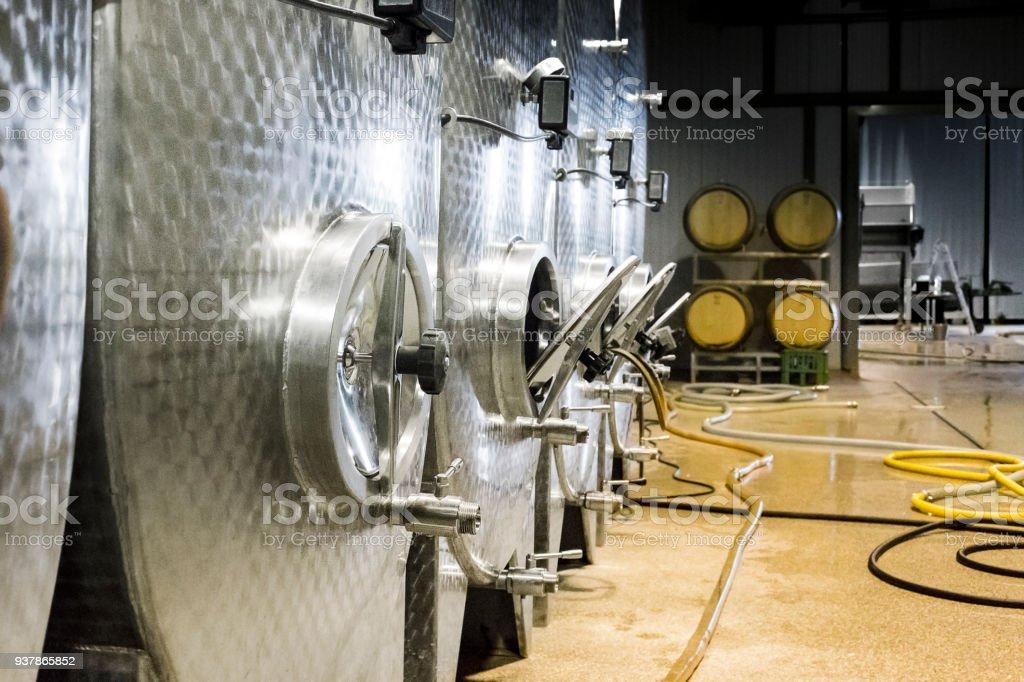 Moderne wine Weinkeller - Lizenzfrei Fotografie Stock-Foto