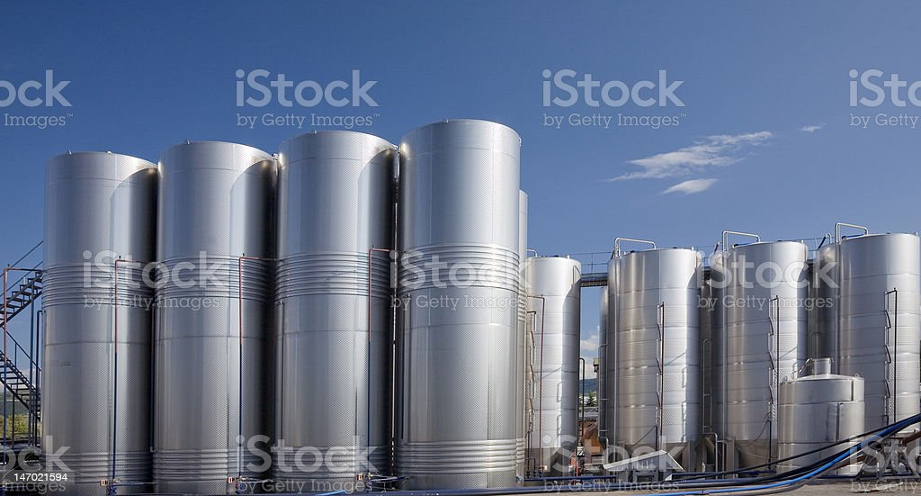 Modern wineries royalty-free stock photo