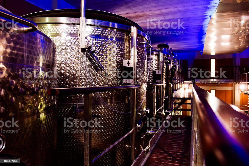 Modern winery royalty-free stock photo