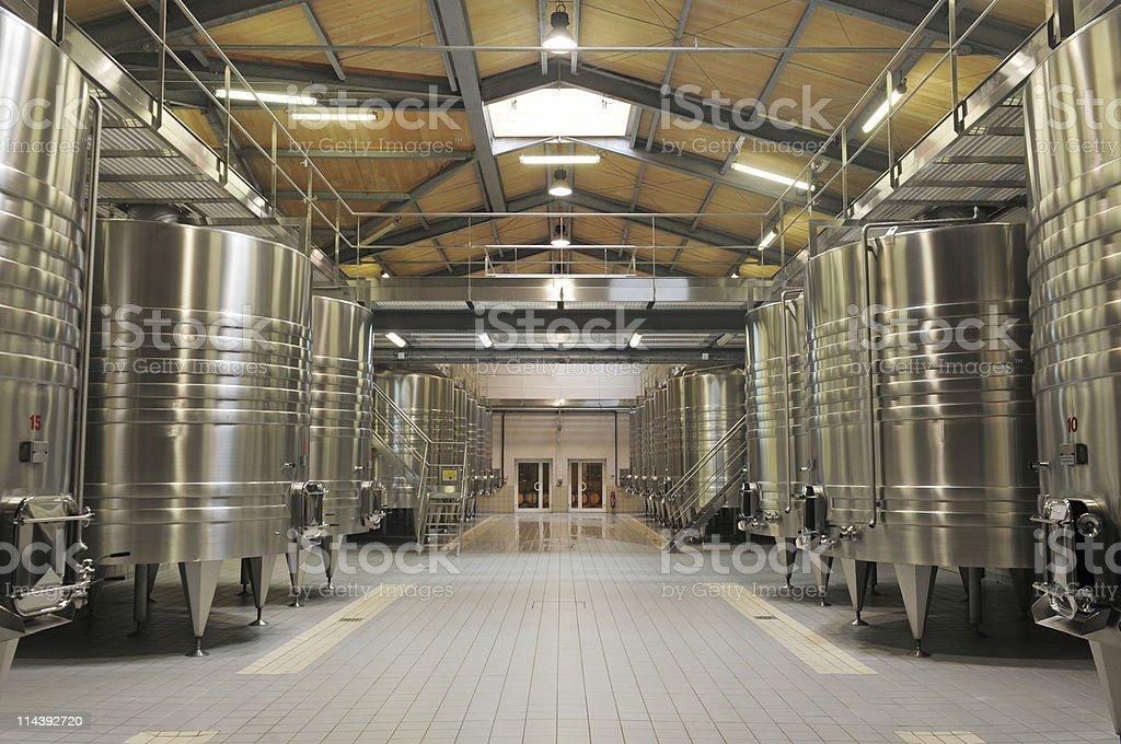 Modern Winery stock photo