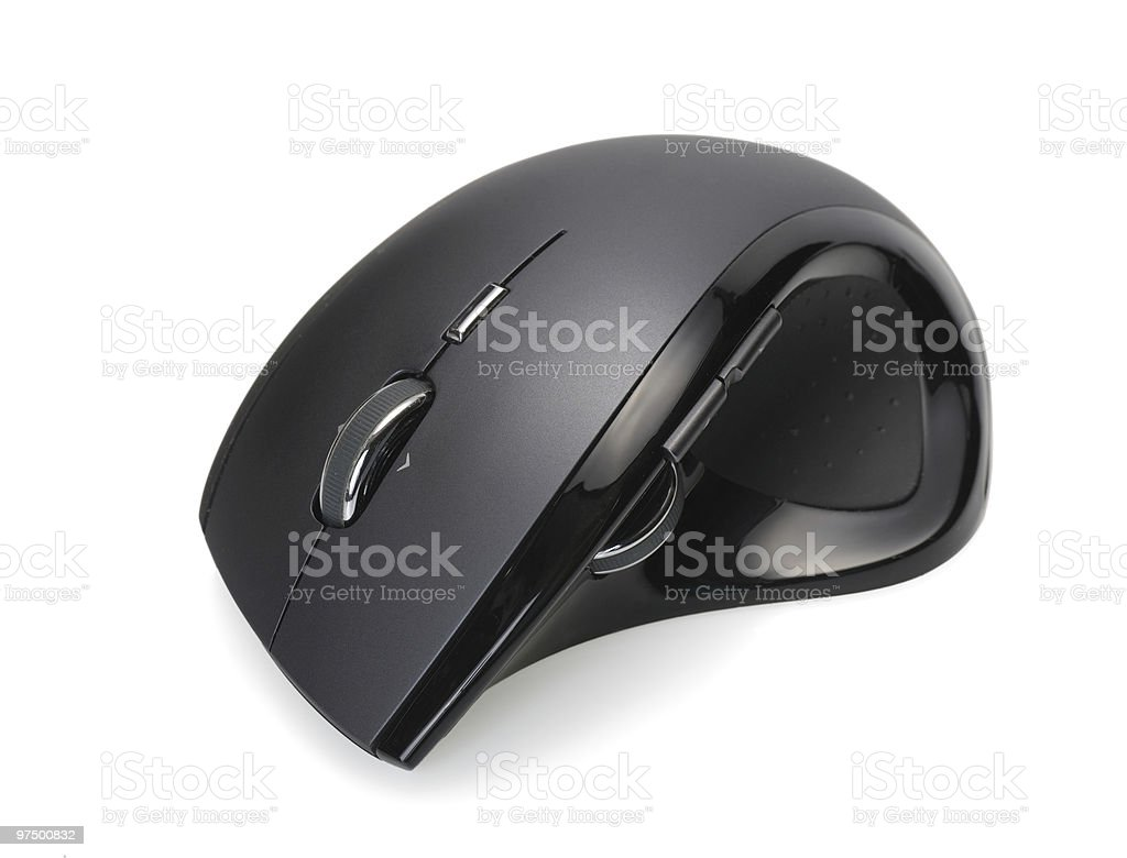 Modern wireless computer mouse royalty-free stock photo