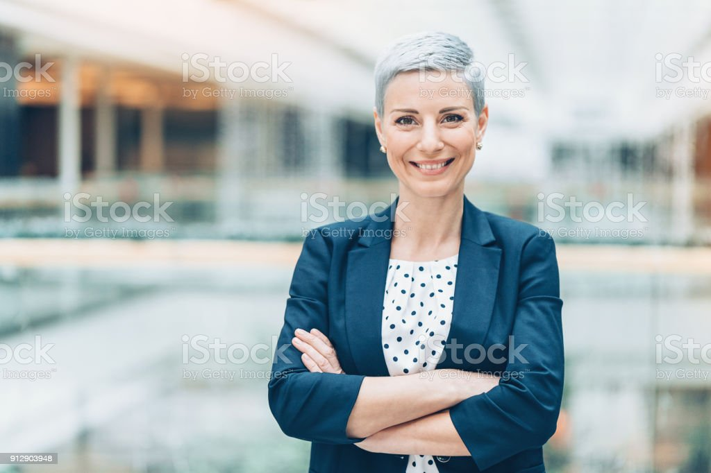 Modern woman in business stock photo