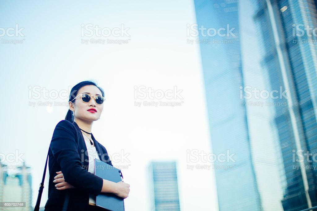 Modern woman outdoors royalty-free stock photo