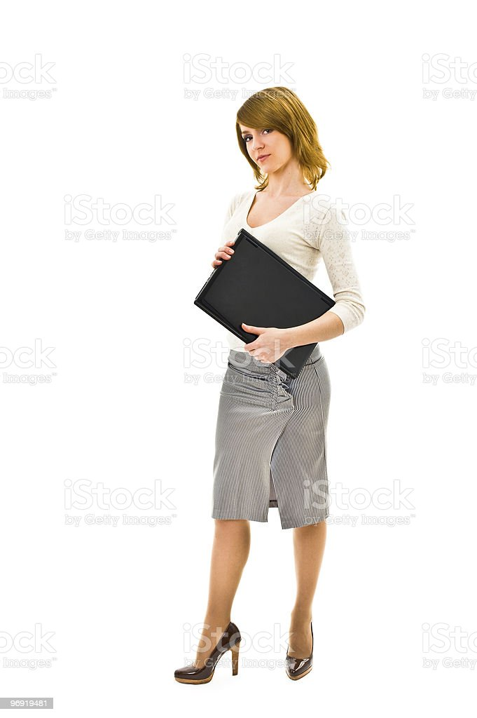 Modern woman with laptop royalty-free stock photo