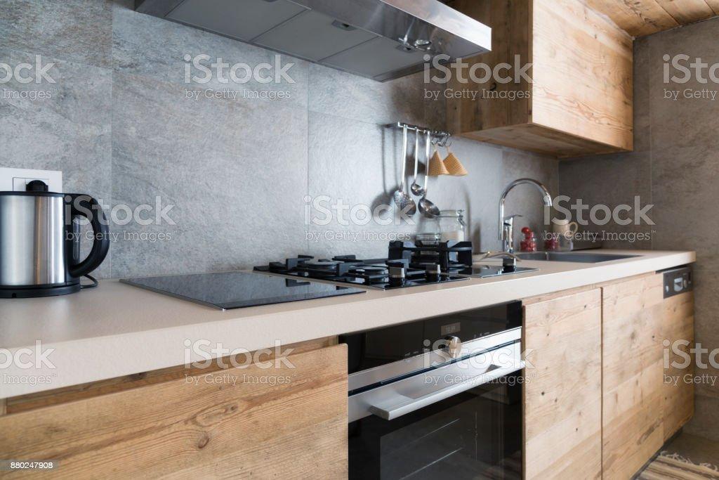 Moderne Holz Küchentheke – Foto