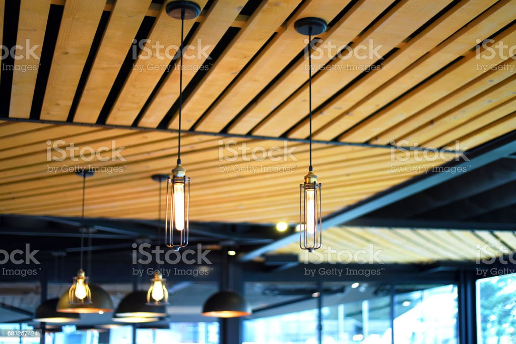 Modern Wooden Ceiling foto de stock royalty-free