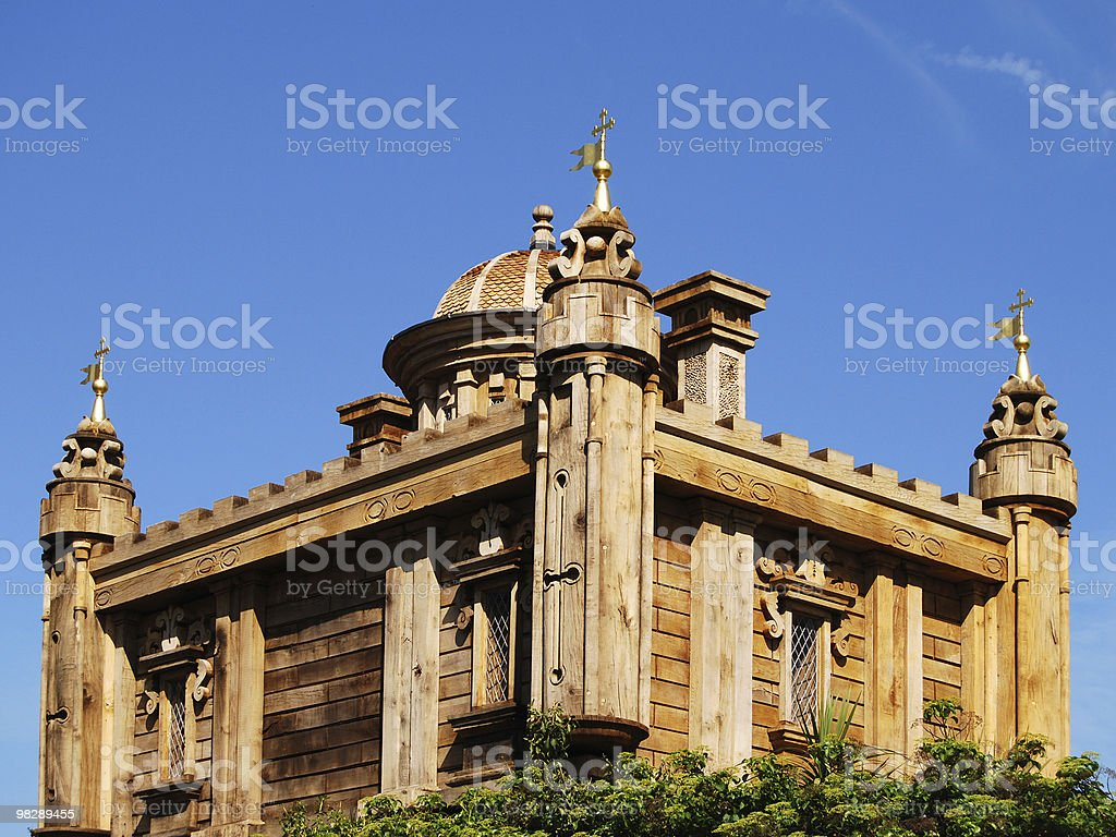 Modern Wooden Folly. Arundel Castle. West Sussex. England royalty-free stock photo