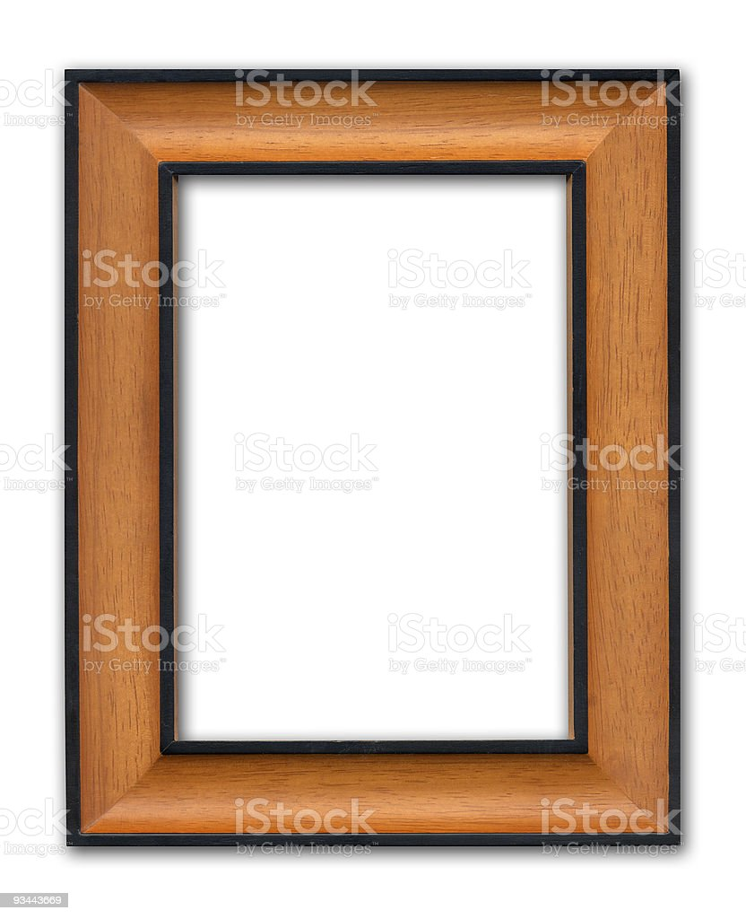 Modern Wooden Frame royalty-free stock photo