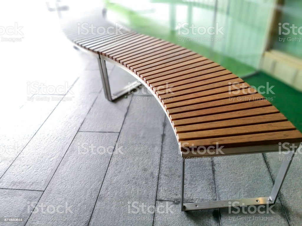 Modern Wooden Garden Bench Design Stock Photo Download Image Now Istock
