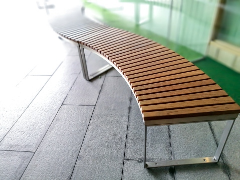 Modern Wooden Garden Bench Design Stock Photo Download Image Now Istock