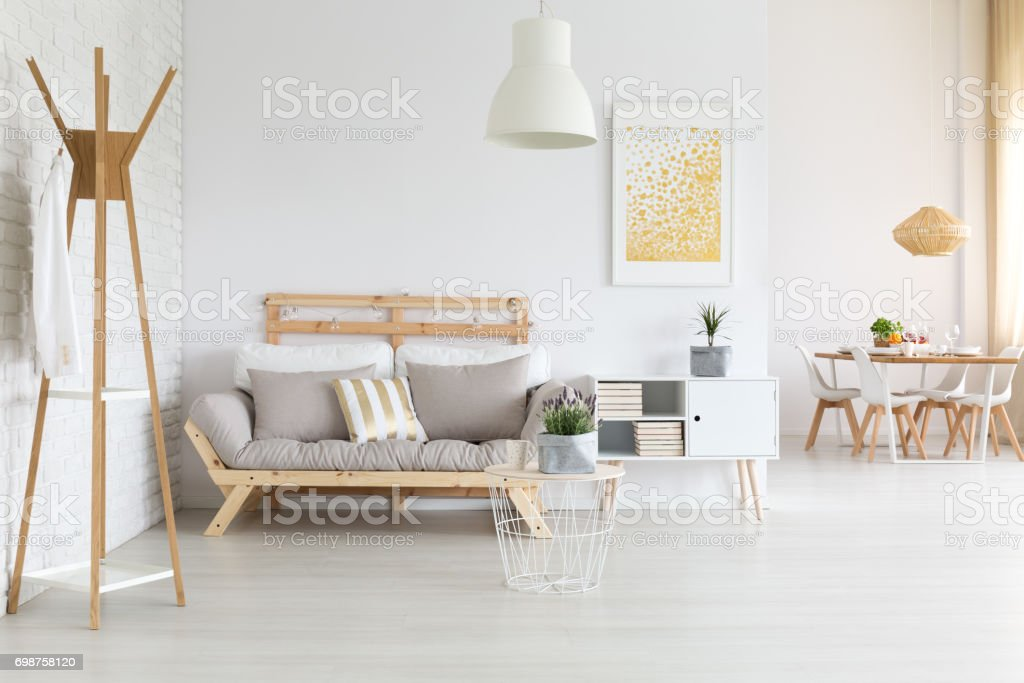 Modern Wooden Sofa Stock Photo - Download Image Now - iStock