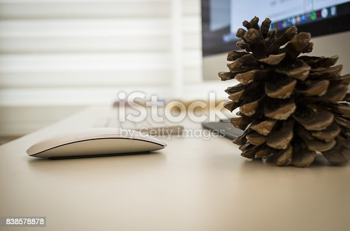 509867718istockphoto Modern working Place on White Office Desk 838578878