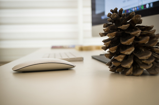 509867718 istock photo Modern working Place on White Office Desk 838578878