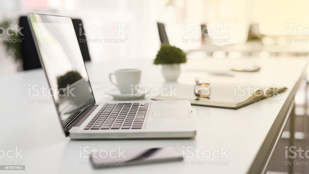 Modern Working Place stock photo