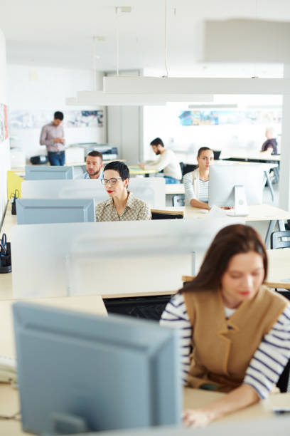 modern working space - office cubicle stock pictures, royalty-free photos & images