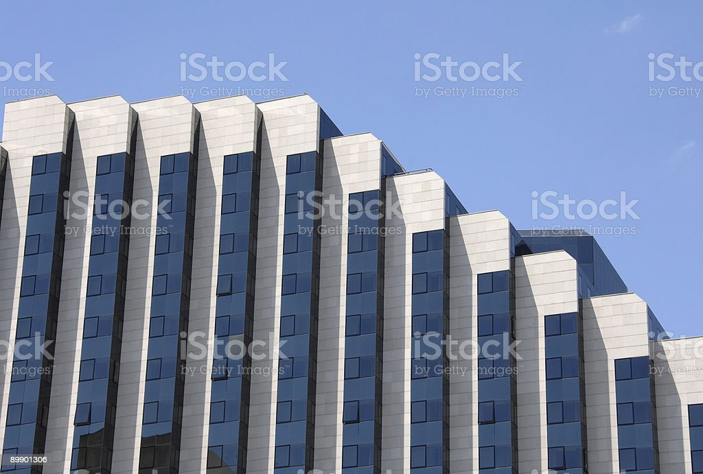 Modern workplace building royalty free stockfoto