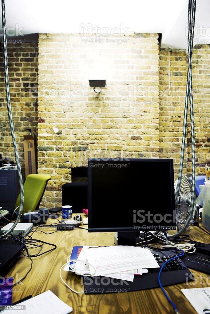modern workplace: empty IT office stock photo