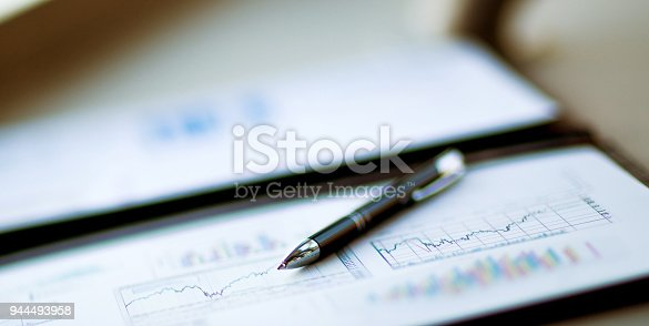 istock modern workplace of the businessman .accounting 944493958