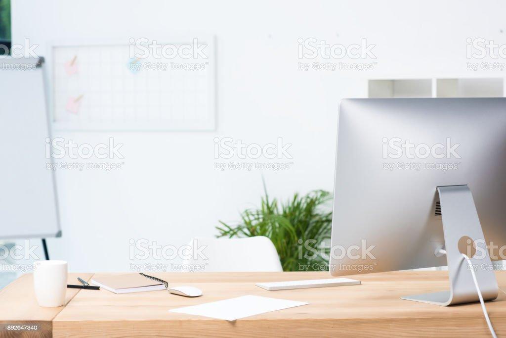modern workplace stock photo