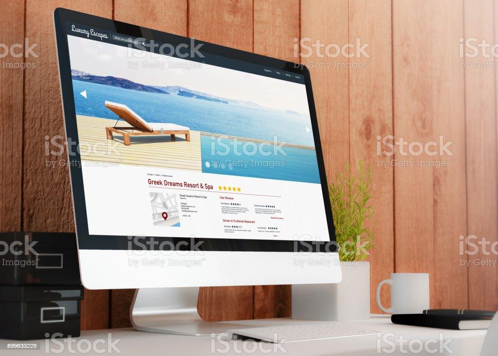 Moderno Espacio De Trabajo Con Lujo Escapa Sitio Web Foto De