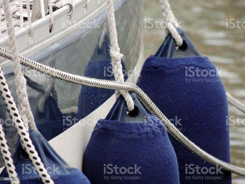 Modern Yacht Fender stock photo