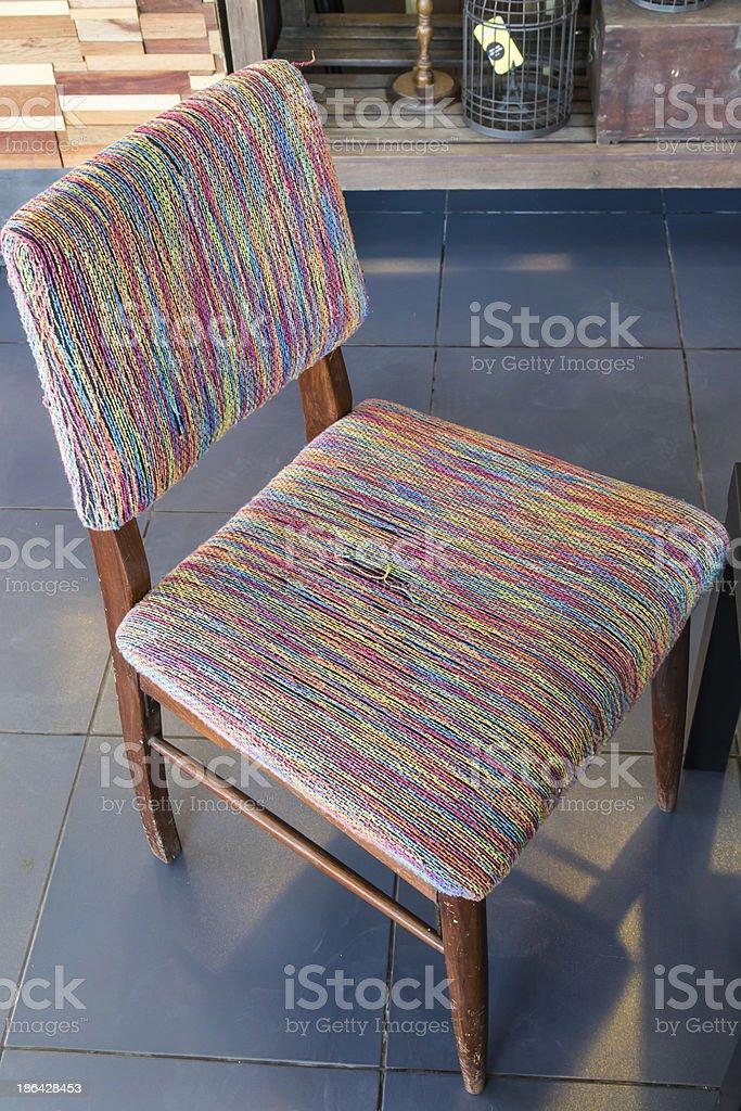 Modern  yarn chair royalty-free stock photo