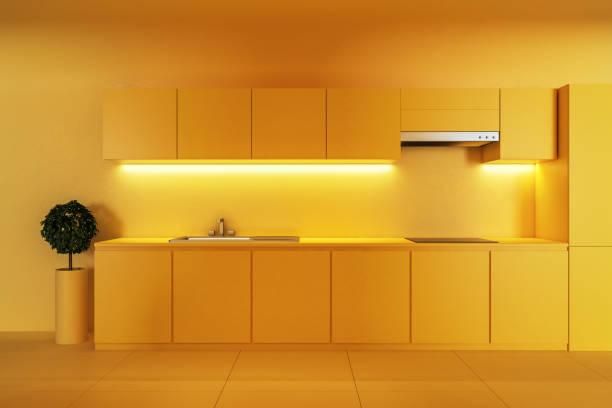 Moderne gelbe Küche – Foto
