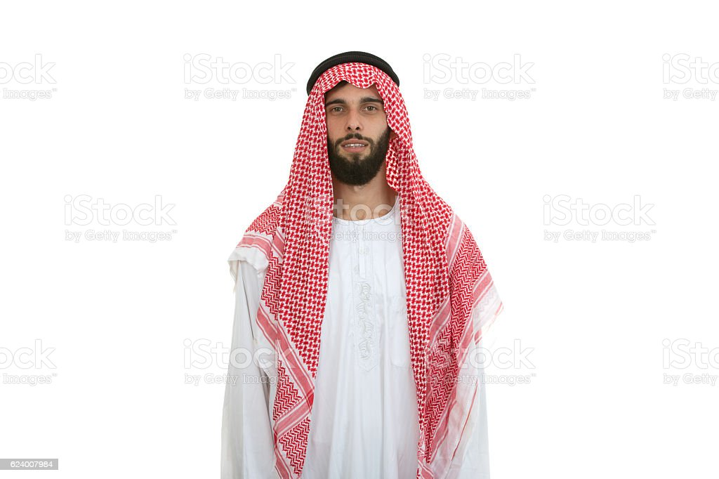 modern young arabian man looking serious stock photo