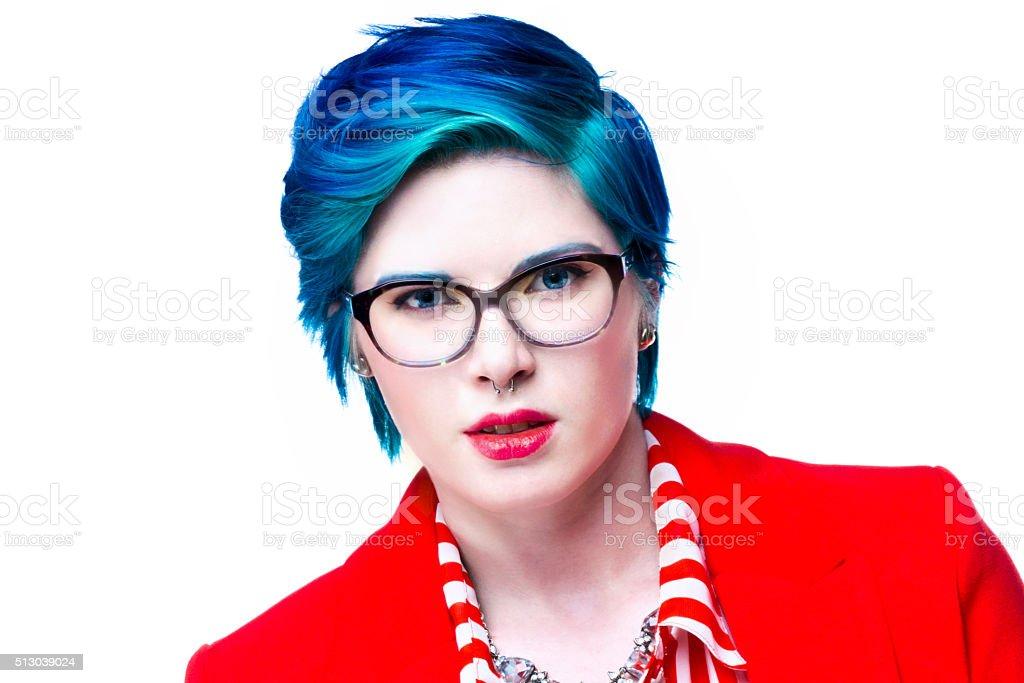 Modern young executive woman stock photo