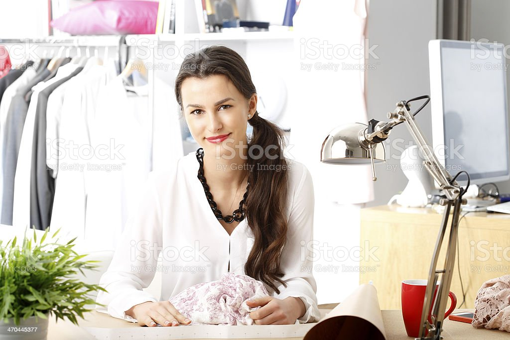 Modern young fashion designer stock photo