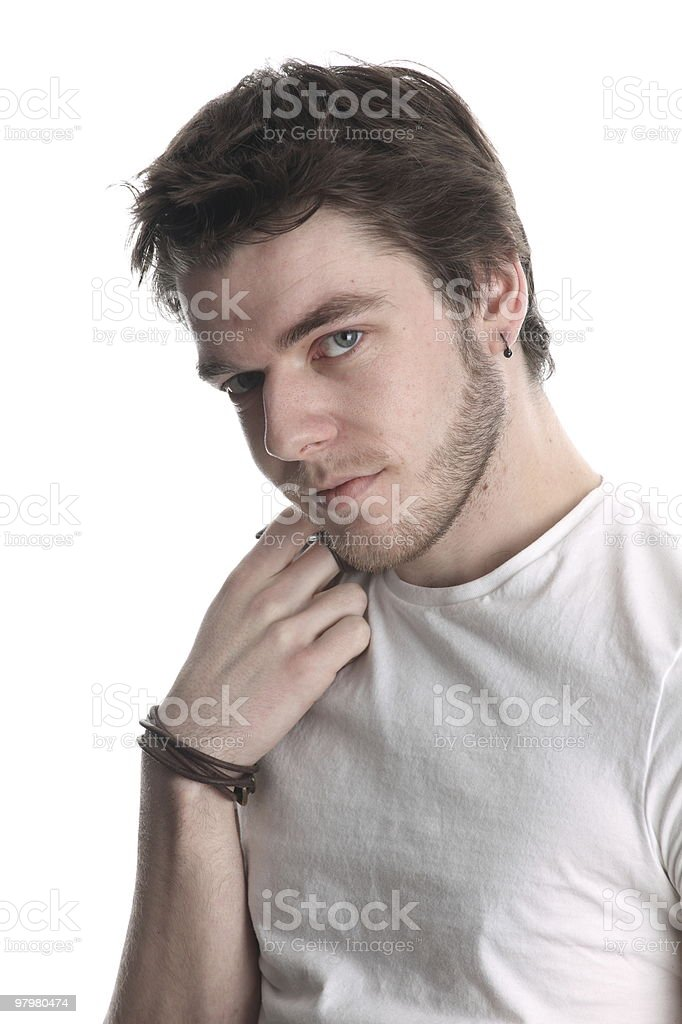 Modern young man royalty-free stock photo
