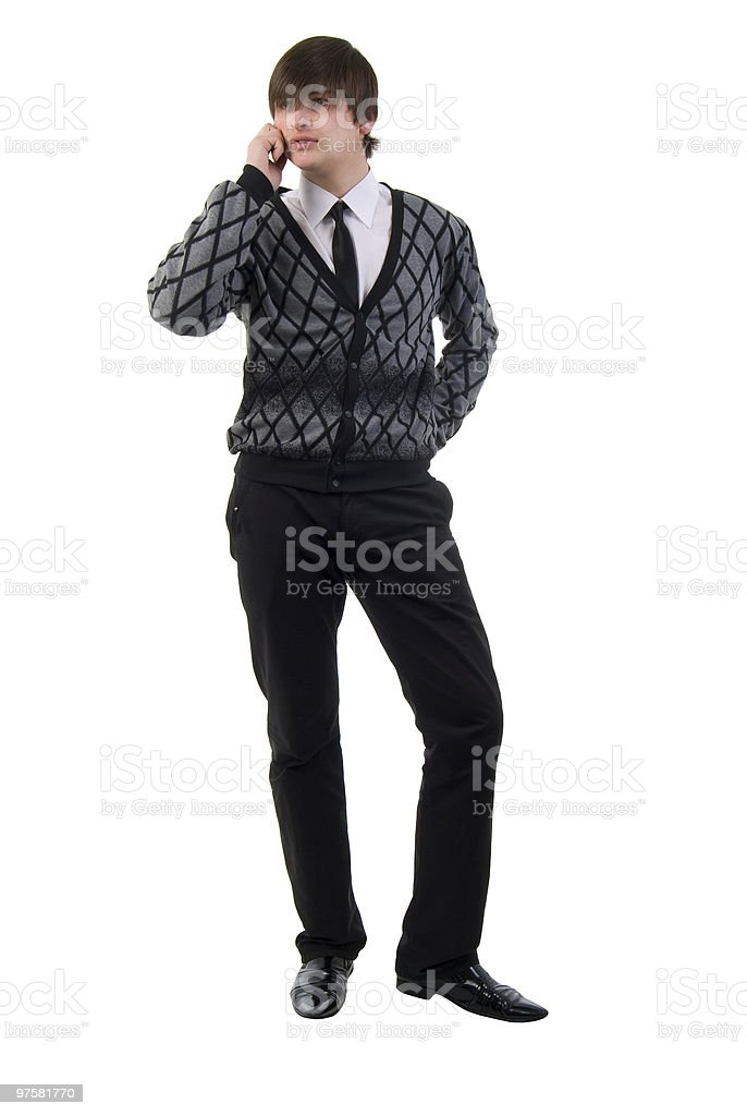 Modern Young Man Talking On Mobile Phone. royalty-free stock photo