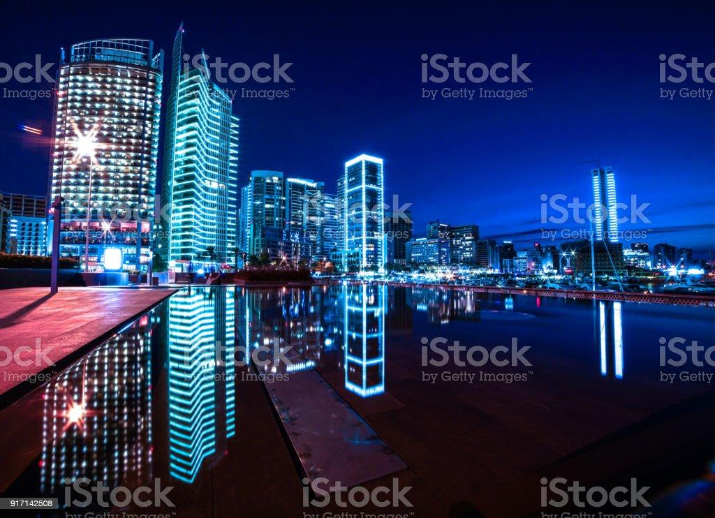 Modern Zaitunay Bay in Beirut, Lebanon stock photo