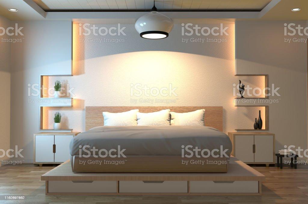 Modern Zen Peaceful Bedroom Japan Style Bedroom With Shelf ...