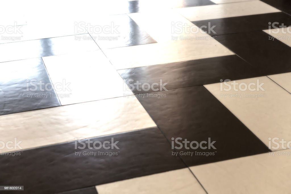 Modern zig zag floor pattern stock photo