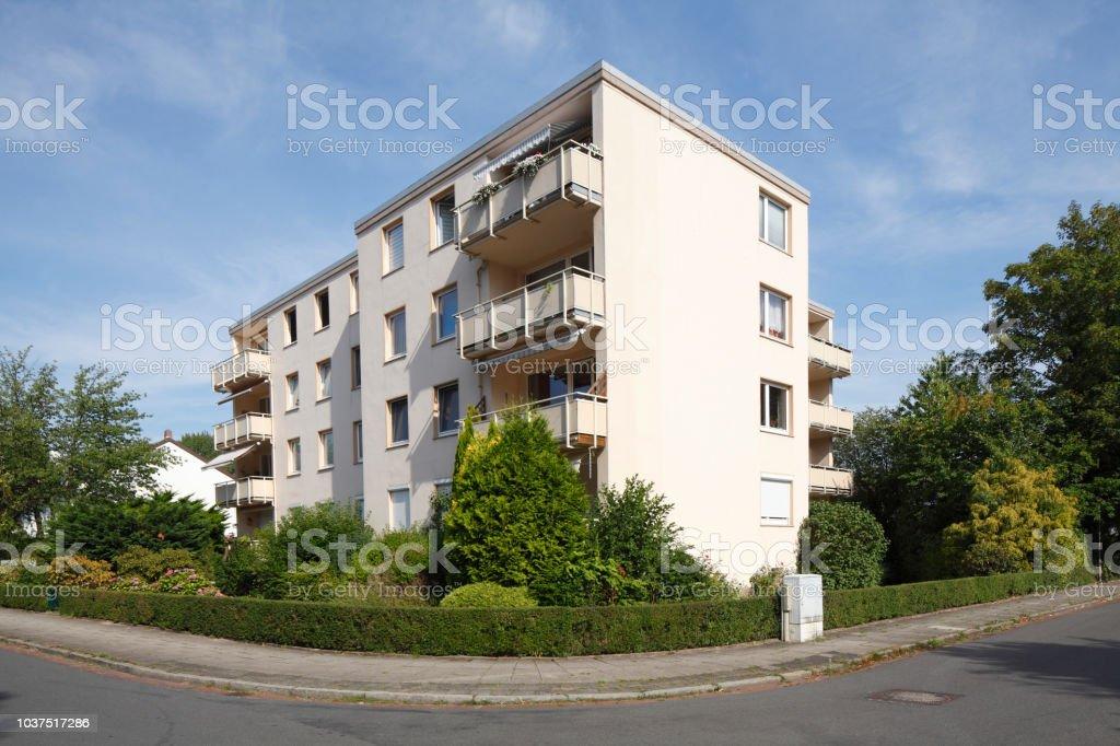 Moderne Wohnhäuser, Mehrfamilienhäuser, Wohngebäude Stock Photo