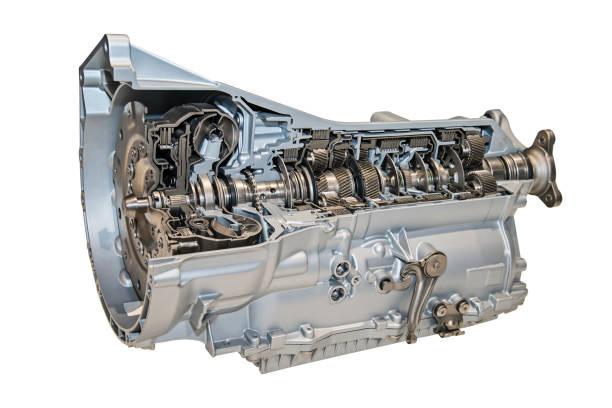 Modernes Getriebe für PKW stock photo