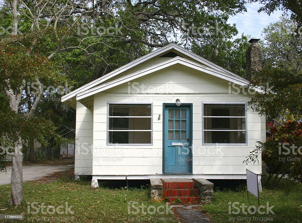 Modest Little House for Sale royalty-free stock photo