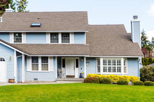 Modest Suburban Home Exterior stock photo