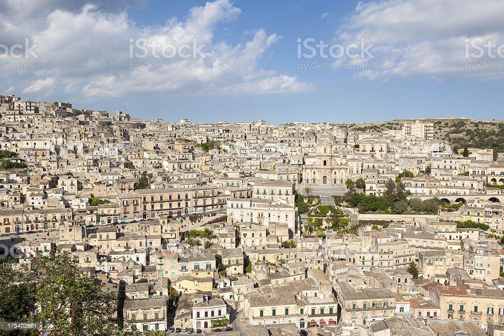 Modica cityscape, Sicily Italy royalty-free stock photo