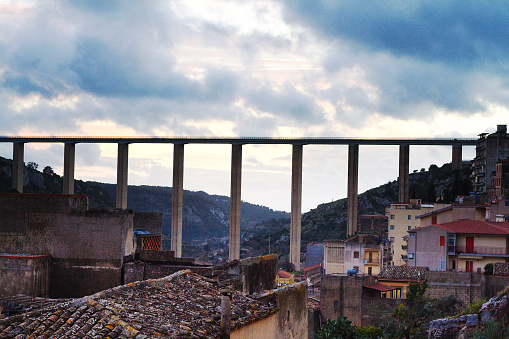 Modica Sicily Ponte Guerrieri Spanning Modicas Valley Stock Photo - Download Image Now