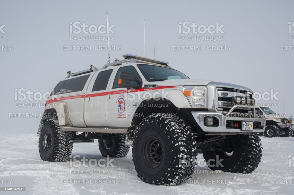 Modified 4x4 Ford F350 rescue truck from Iceland search and Rescue