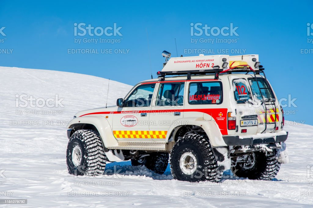 Modified 4x4 Toyota Land cruiser from Iceland search and rescue