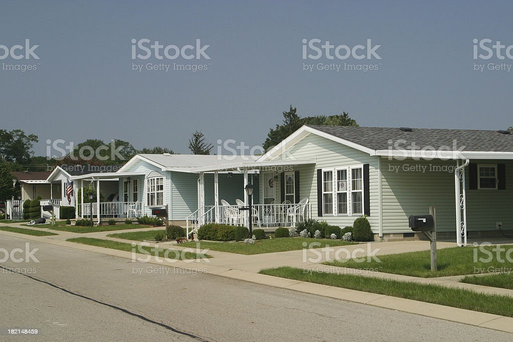 Modular Home Development. Prefab House. Fairborn, Dayton, Ohio royalty-free stock photo