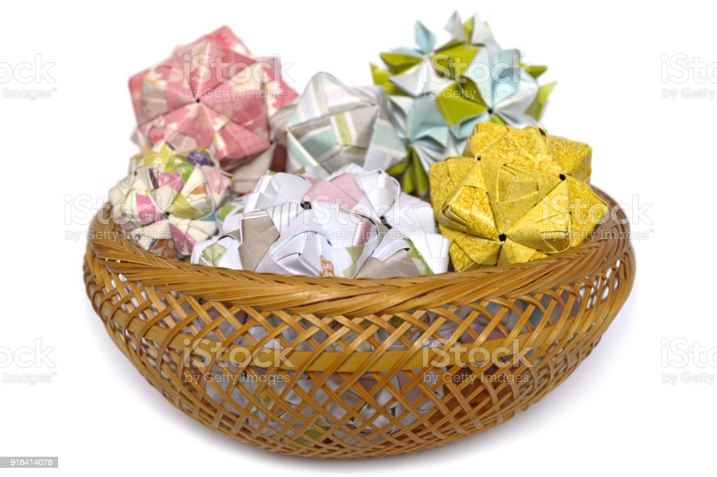Modular Origami Sonobe Ball Stock Photo More Pictures Of Art Istock