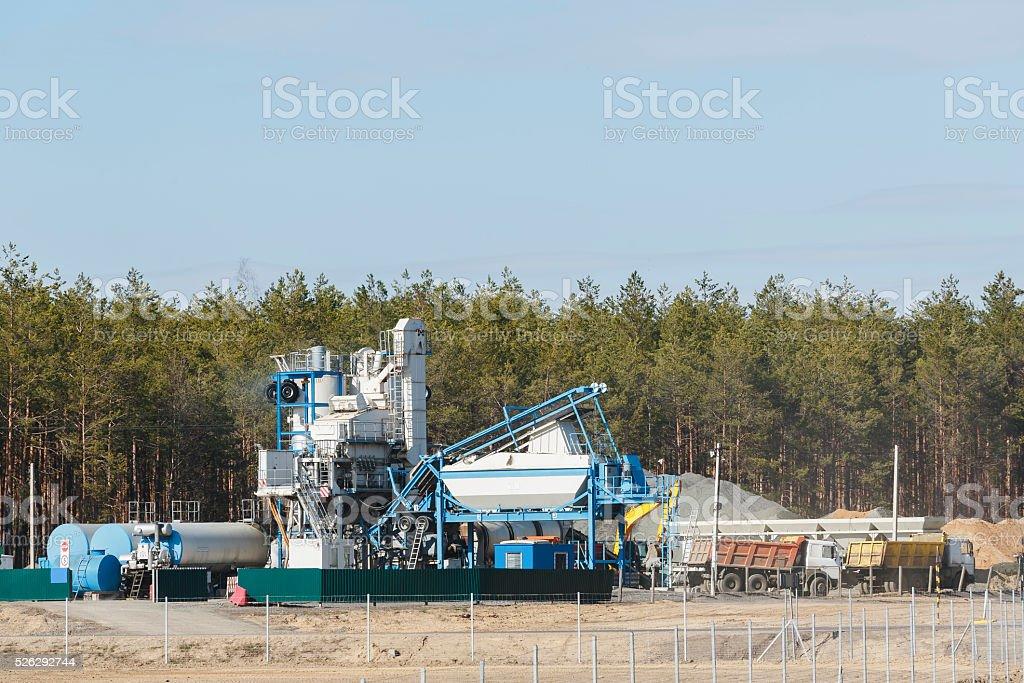 modular plant for the production of asphalt stock photo