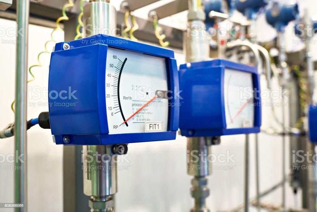Modular variable area flowmeter stock photo